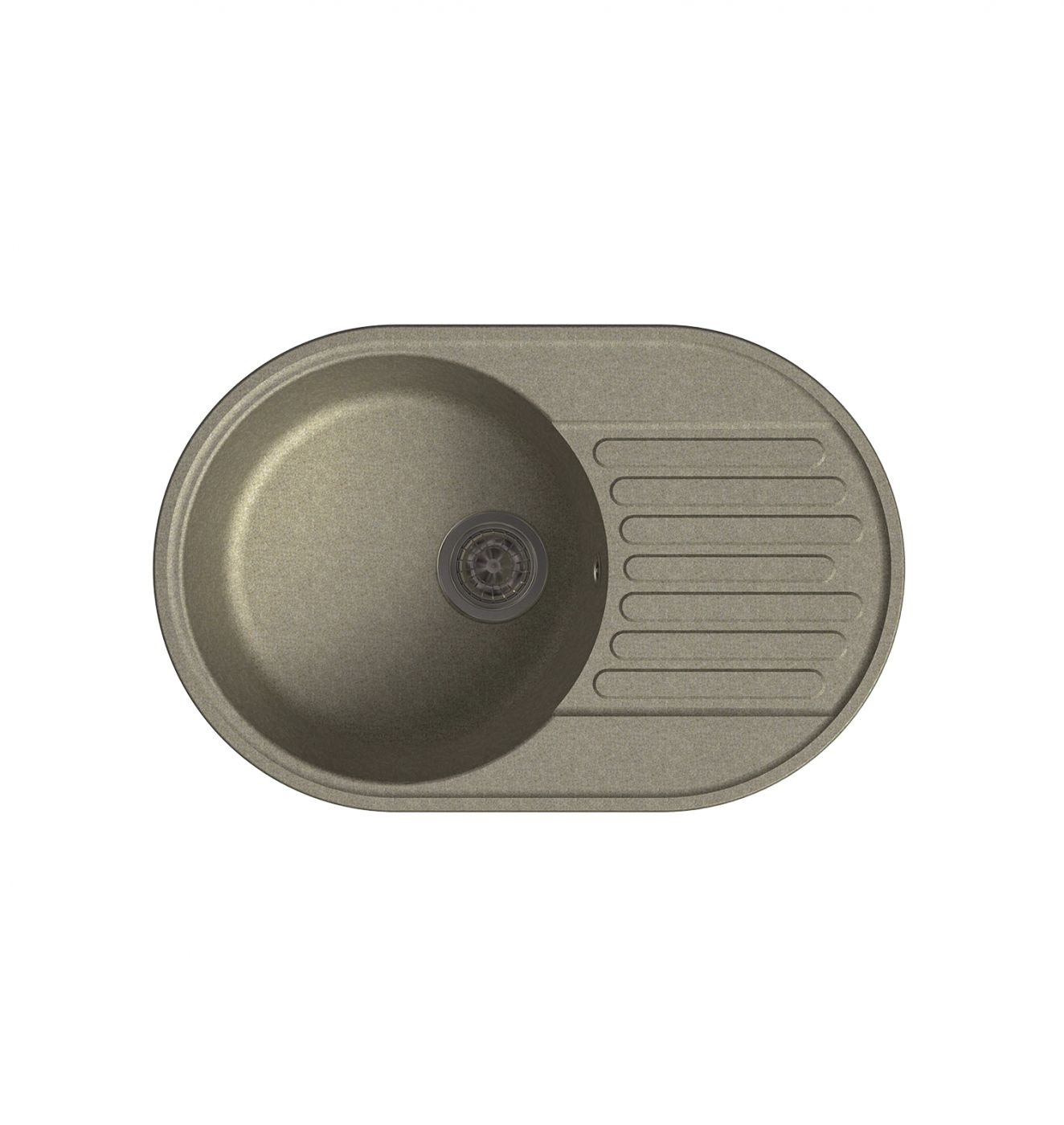 Врезная кухонная мойка LEX Como 740 Sand 74х48см полимер RULE000011