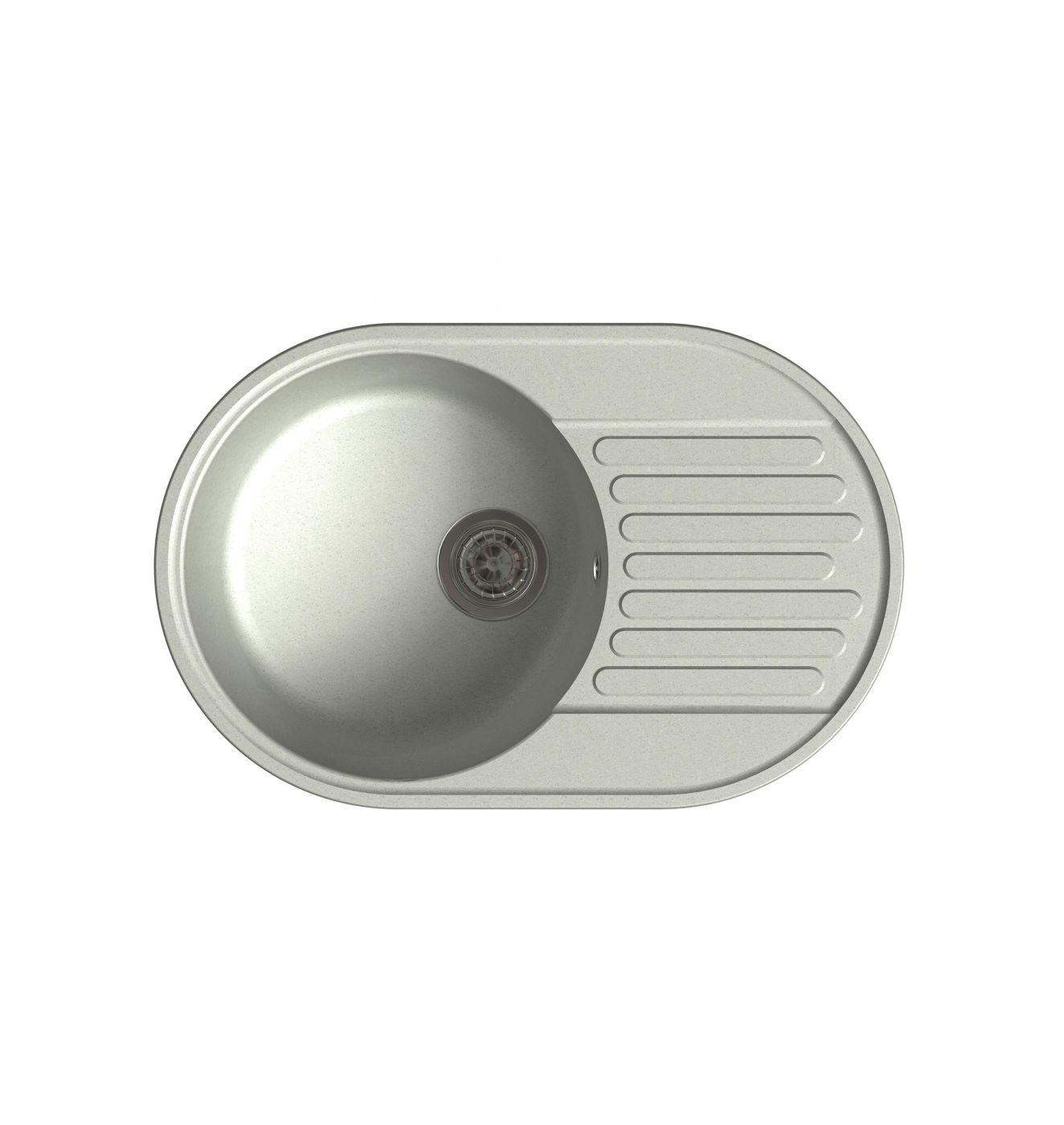 Врезная кухонная мойка LEX Como 740 Space Gray 74х48см полимер RULE000012