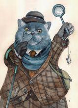 Почтовая открытка Доктор Ватсон кот