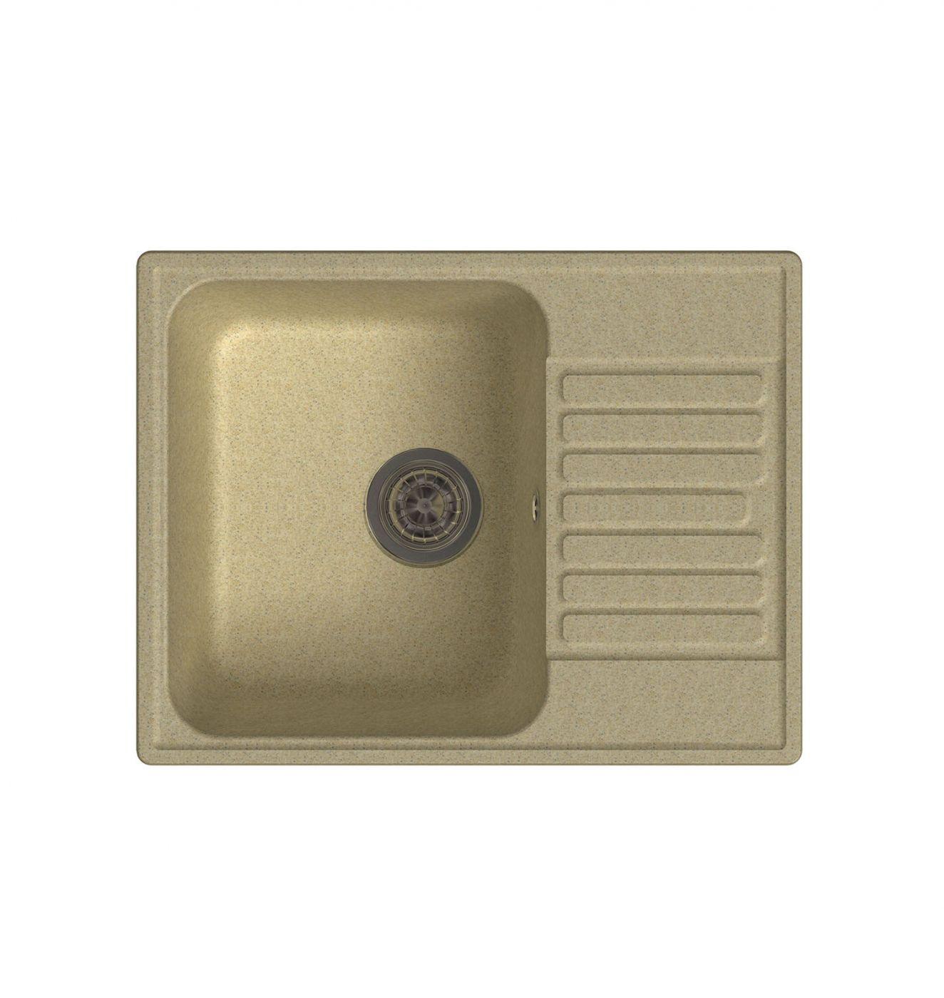 Врезная кухонная мойка LEX Garda 620 Ivory 62х48см полимер RULE000016