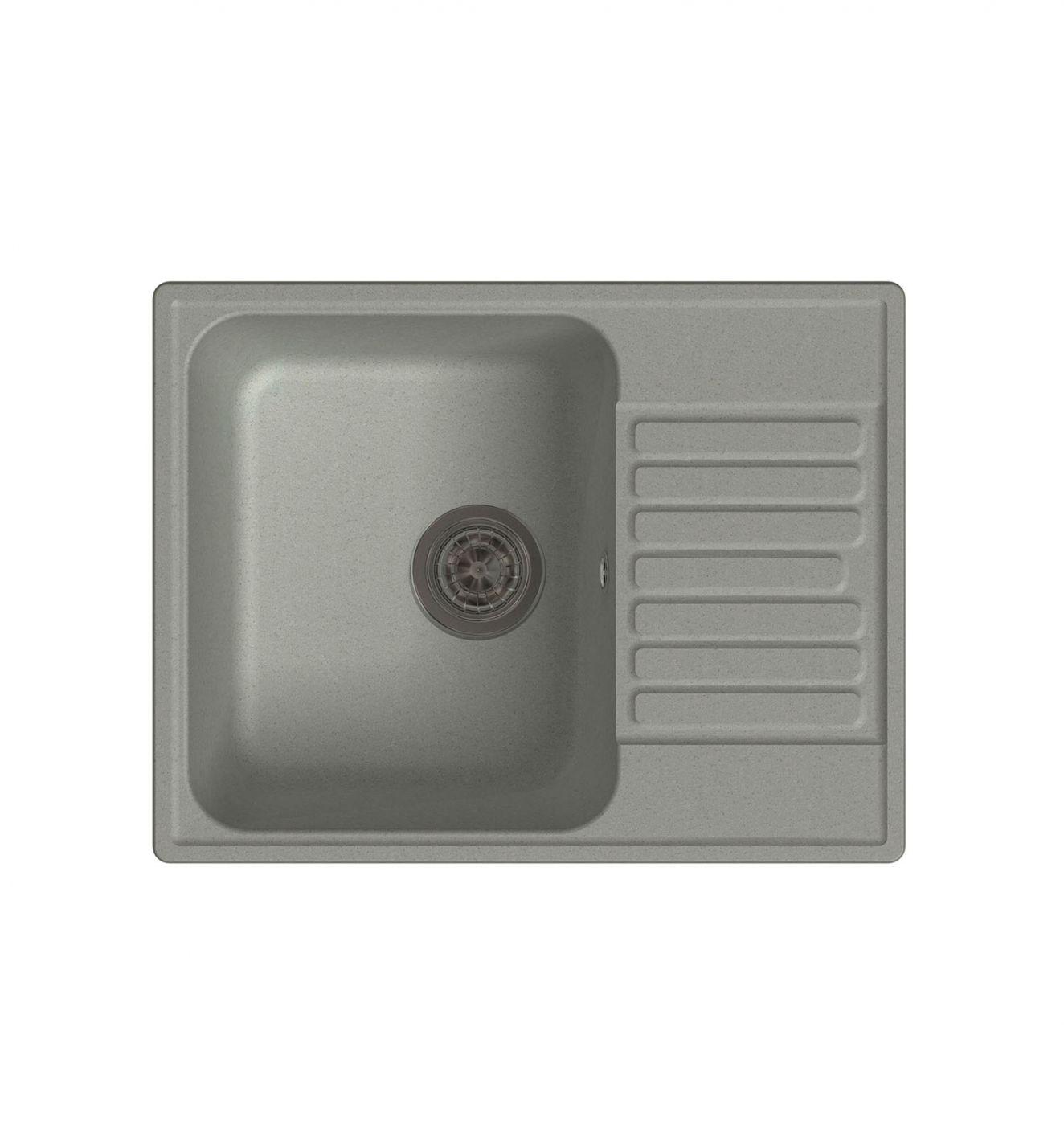 Врезная кухонная мойка LEX Garda 620 Space Gray 62х48см полимер RULE000018