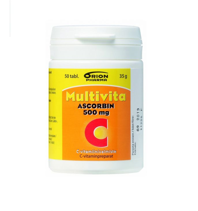 MULTIVITA Ascorbin vitamin C 500 mg 50 таблеток