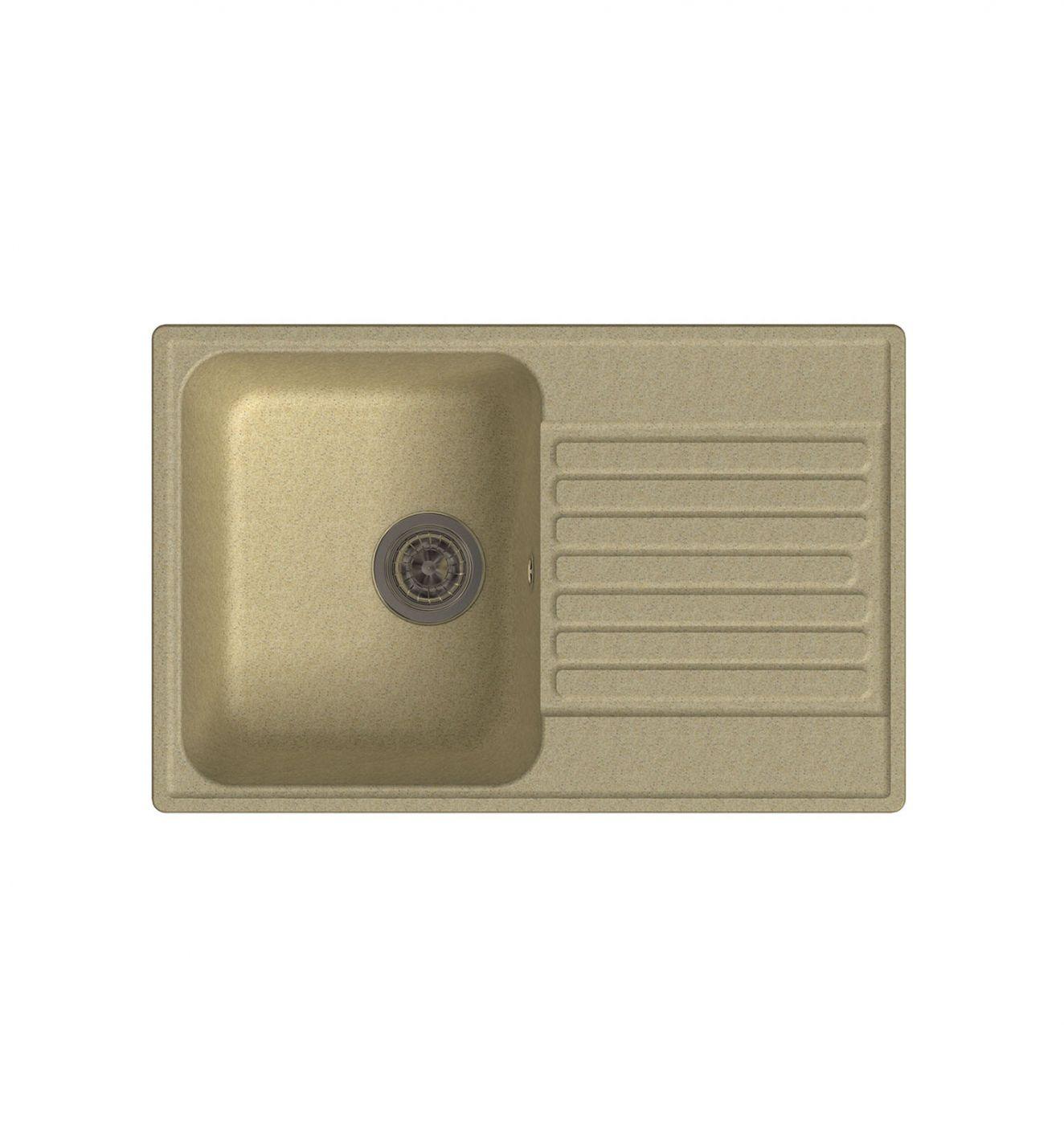Врезная кухонная мойка LEX Geneva 740 Ivory 74х48см полимер RULE000022
