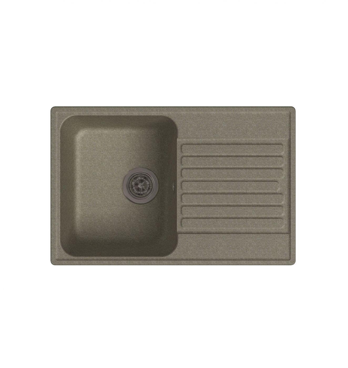 Врезная кухонная мойка LEX Geneva 740 Sand  74х48см полимер RULE000023