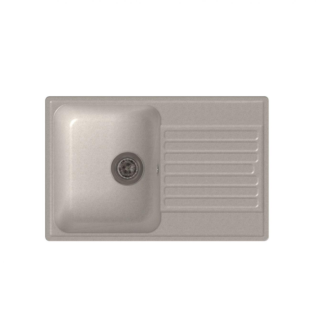 Врезная кухонная мойка LEX Geneva 740 White  74х48см полимер RULE000019