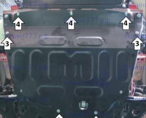 Защита картера и кпп, Motodor, сталь 2мм