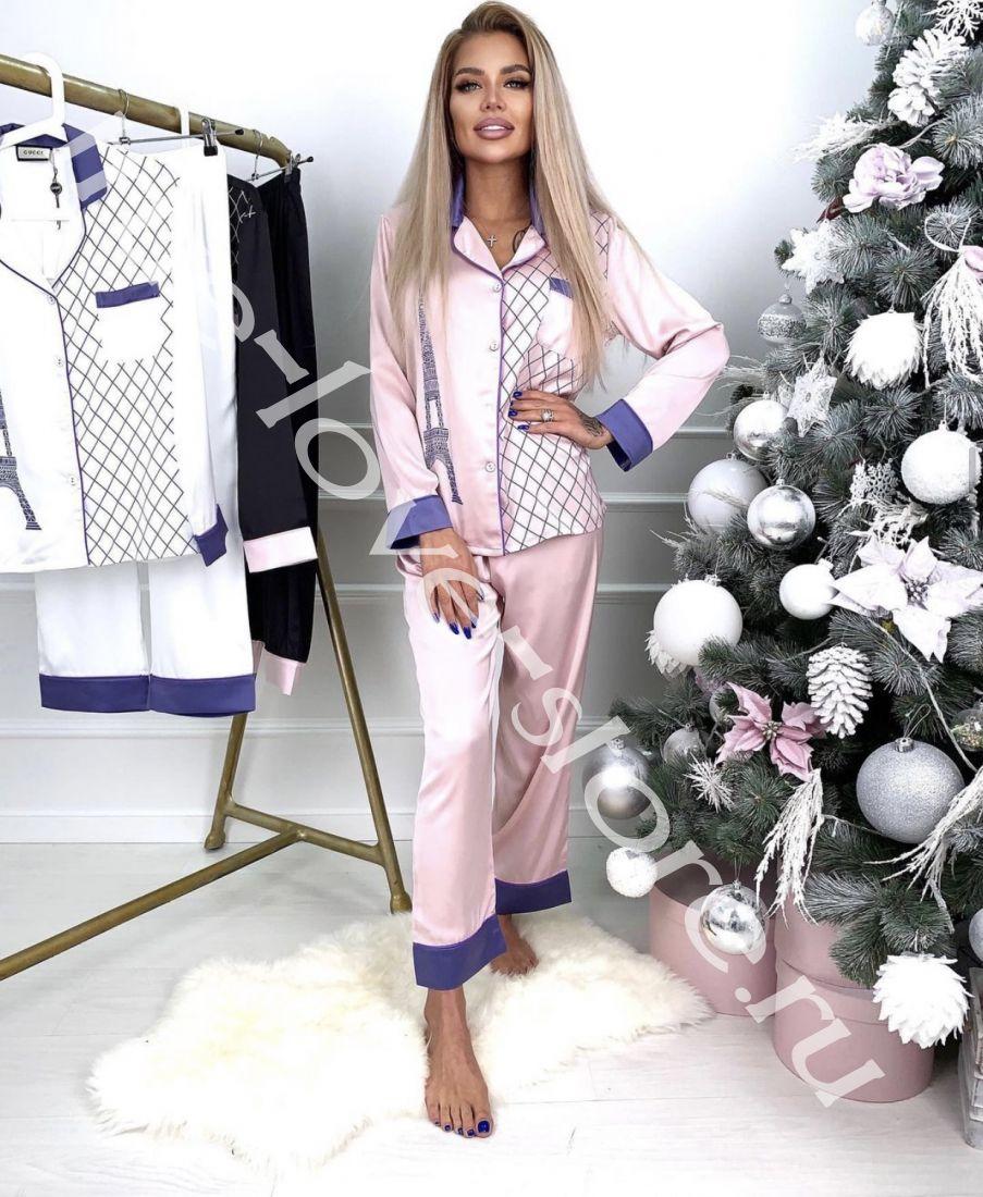 0183 -Цена за 3 шт, Пижама двойка VS подкова(M,L,XL)