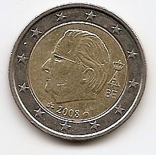 2 евро  Бельгия  2008  регулярная из обращения