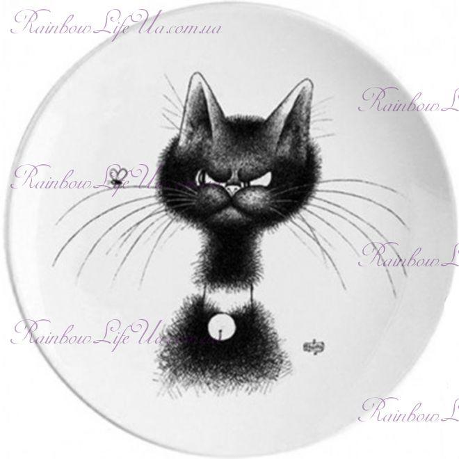 """Тарелка кот медалист """"Parastone"""""""