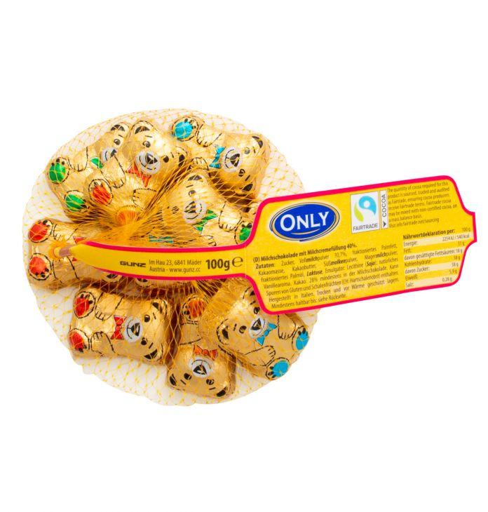 Молочный шоколад only  МИШКИ 100 гр