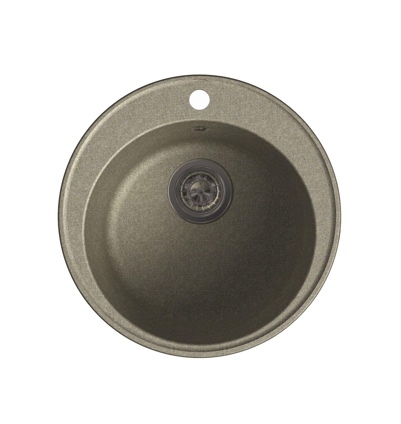 Врезная кухонная мойка LEX Lugano 480 Sand  48х48см полимер RULE000005