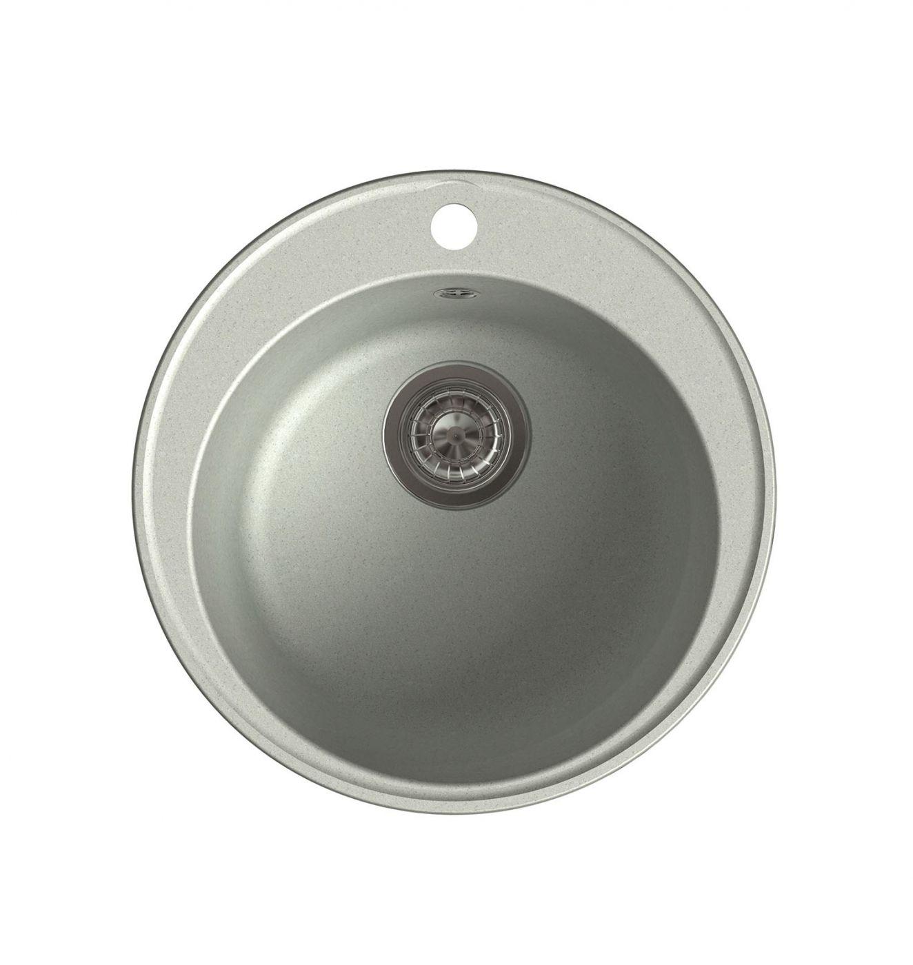 Врезная кухонная мойка LEX Lugano 480 Space Gray  48х48см полимер RULE000006