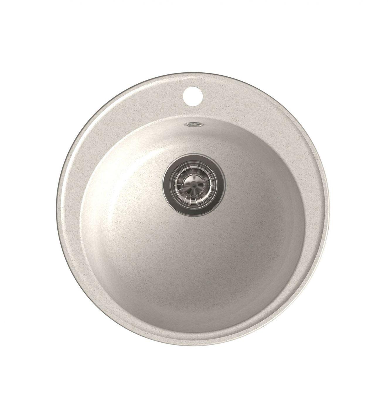 Врезная кухонная мойка LEX Lugano 480 White  48х48см полимер RULE000001