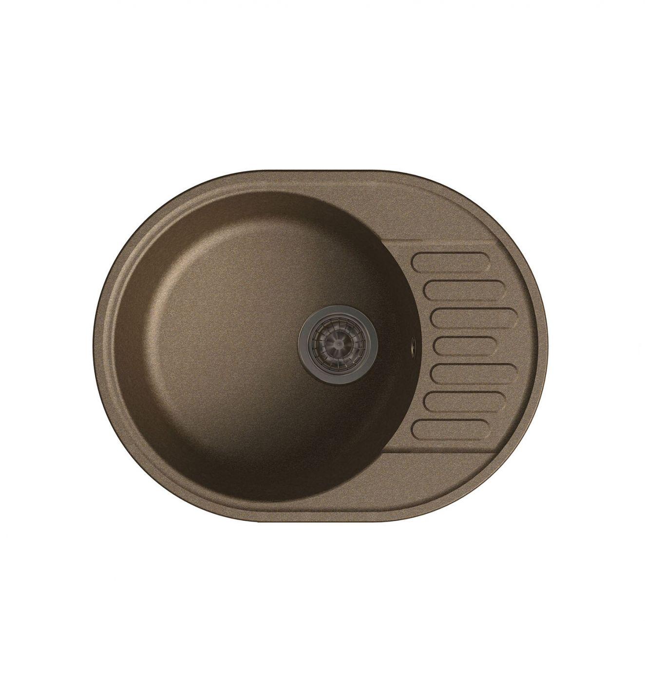 Врезная кухонная мойка LEX Orta 620 Chocolate  62х48см полимер RULE000027
