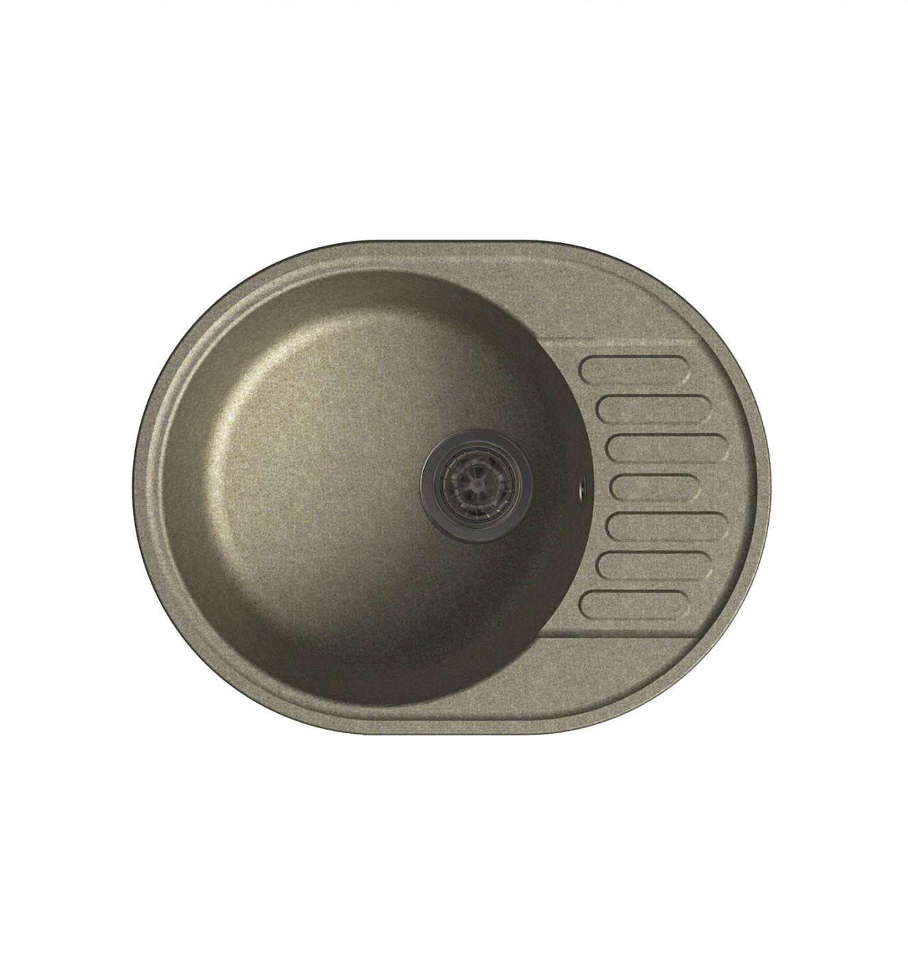 Врезная кухонная мойка LEX Orta 620 Sand  62х48см полимер RULE000029