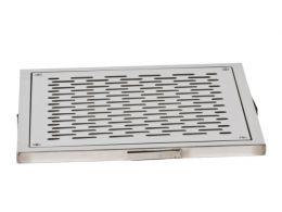 "Слив донный квадратный XenoZone 350х350х150 3""(внутр.) плитка"