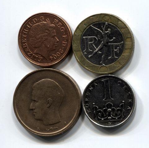 Набор монет Европы 1981-2009 4 шт. НАБ ЕВРО-001