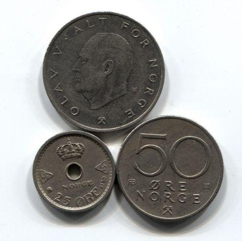 Набор монет Норвегия 1950-1976 4 шт. НАБ НОР-001