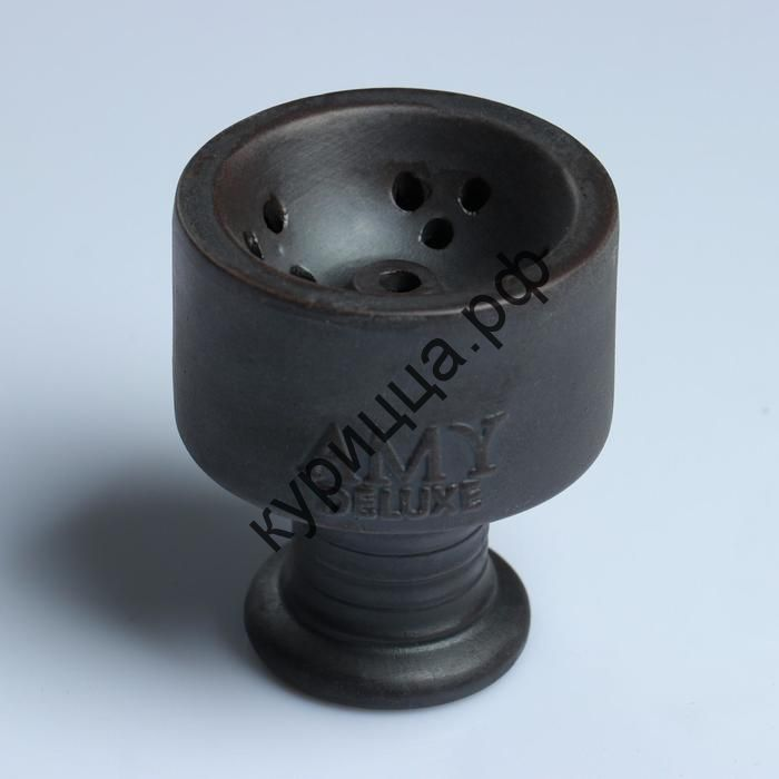 Чаша для кальяна Amy deluxe, глиняная, h=8.5 см, d=7.2 см