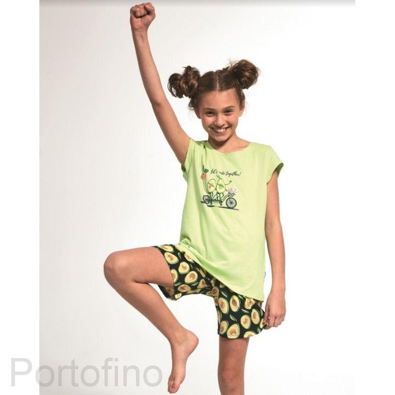 787-77 Пижама для девочки короткий рукав