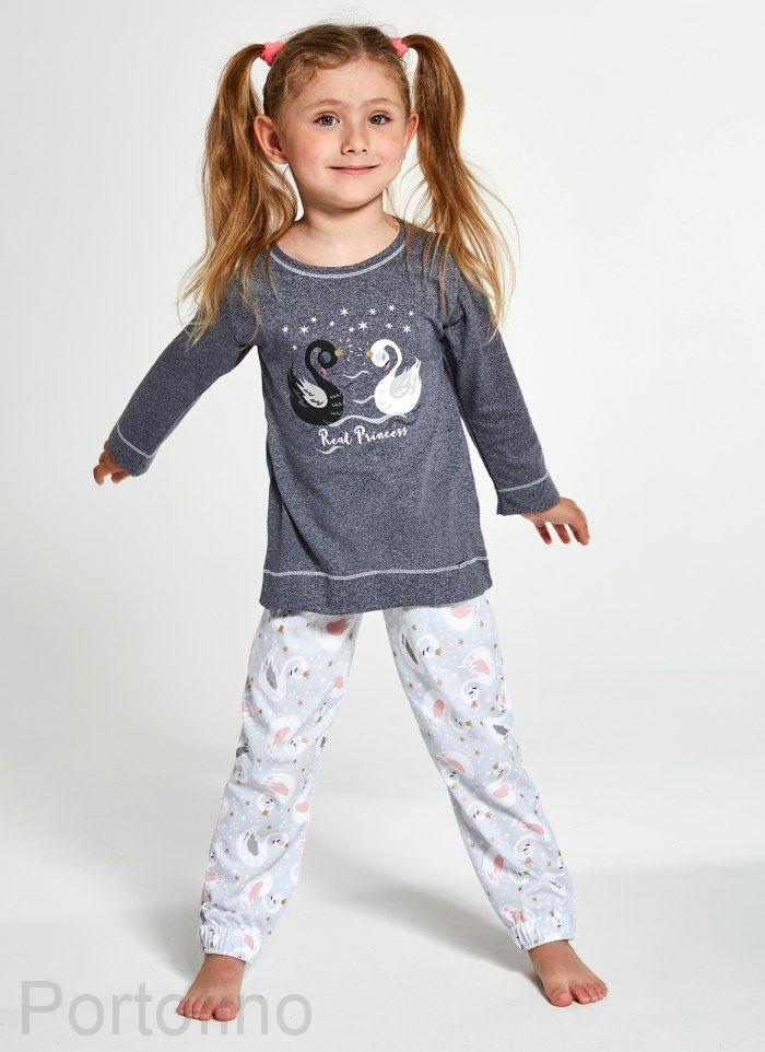 379-131 Пижама для девочек дл.рукав