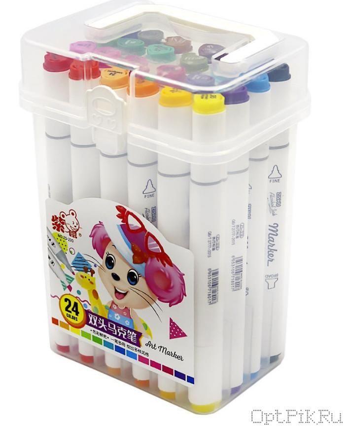 Маркеры для скетчинга 24 цвета в коробочке