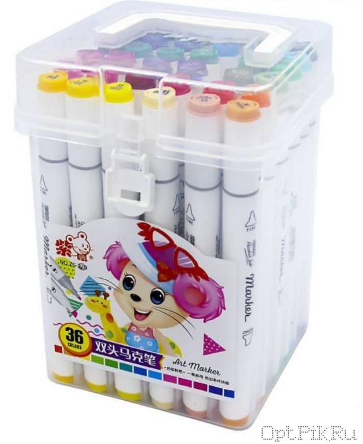 Маркеры для скетчинга 36 цвета в коробочке
