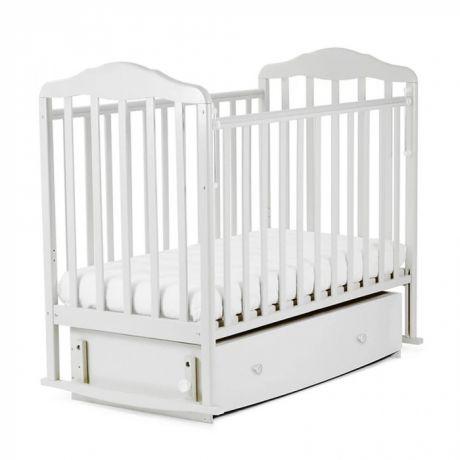 Кровать детская Берёзка (автостенка,закр.ящик, маятник, ПВХ накладка)