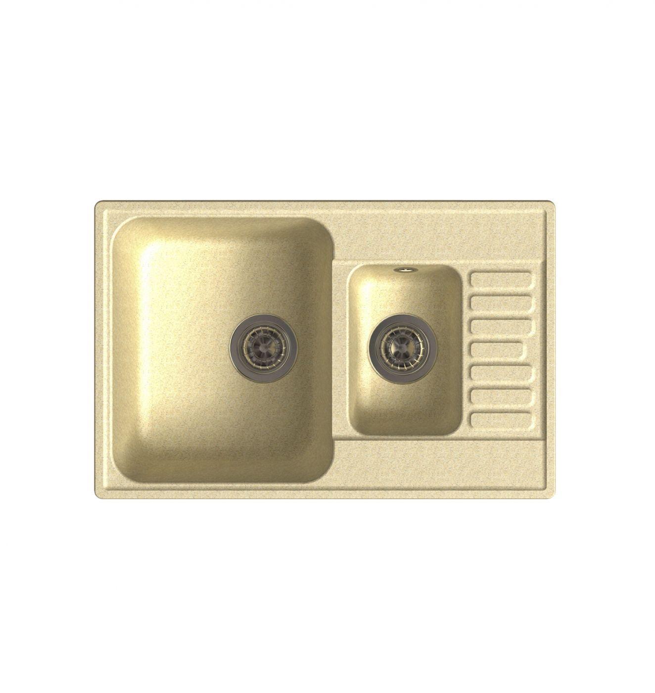 Врезная кухонная мойка LEX St. Moritz 740 Ivory  74х48см полимер RULE000040