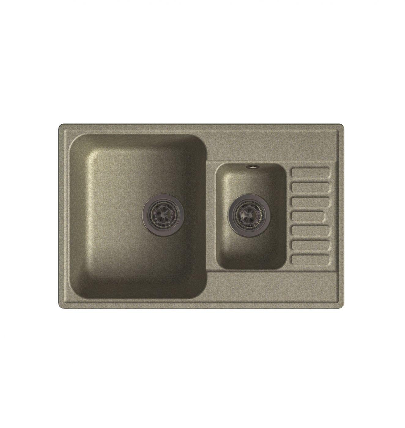 Врезная кухонная мойка LEX St. Moritz 740 Sand  74х48см полимер RULE000041
