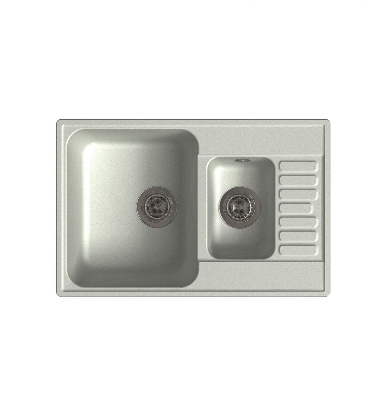 Врезная кухонная мойка LEX St. Moritz 740 Space Gray  74х48см полимер RULE000042