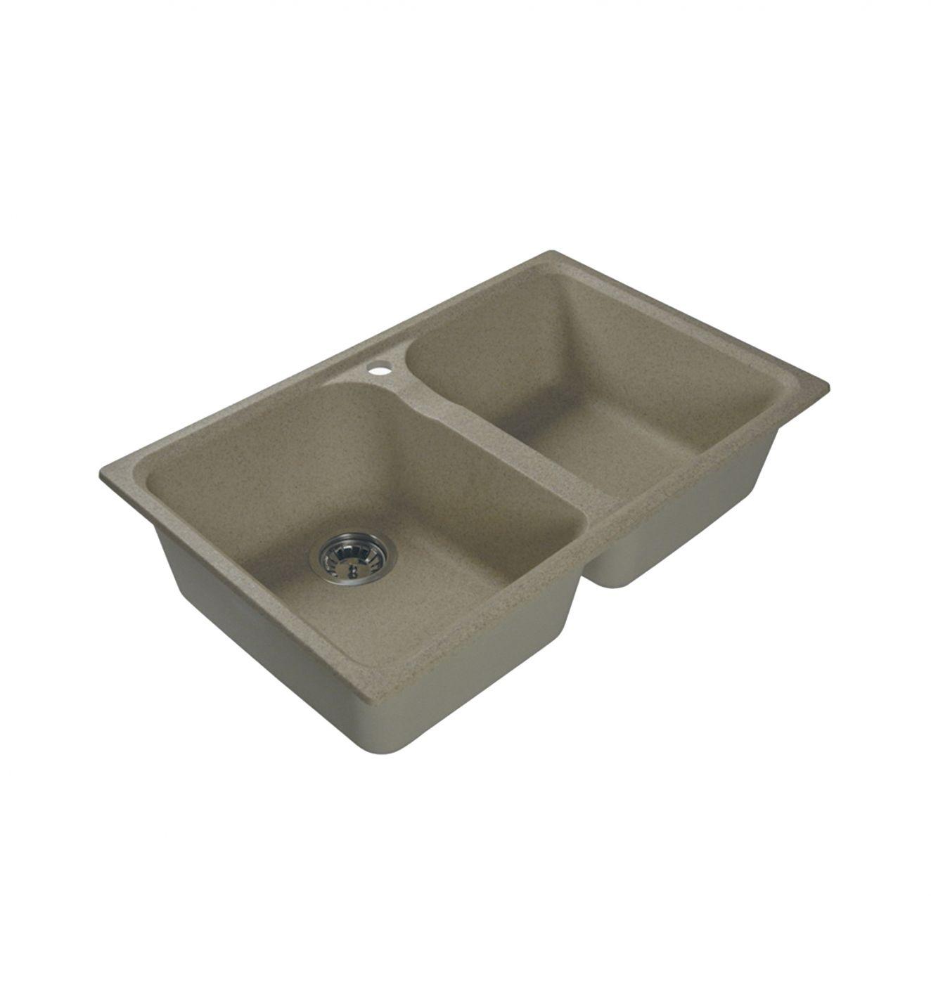 Врезная кухонная мойка LEX Constance 780 Sand  78х49см искусственный мрамор RULE000125