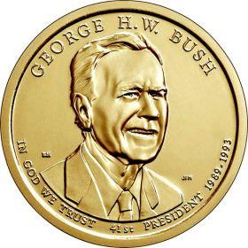 41-й президент США Джордж Буш-старший 1 доллар США 2020  . Серия «Президенты США»