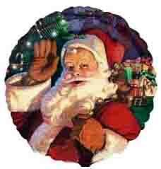 Воздушный шар Санта с мешком (46 см)
