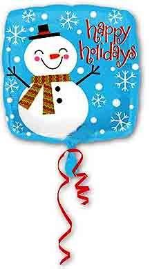 Воздушный шар Снеговик Счастливый (43 см)