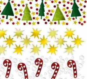 Конфетти Новый год и Рождество, 3 вида
