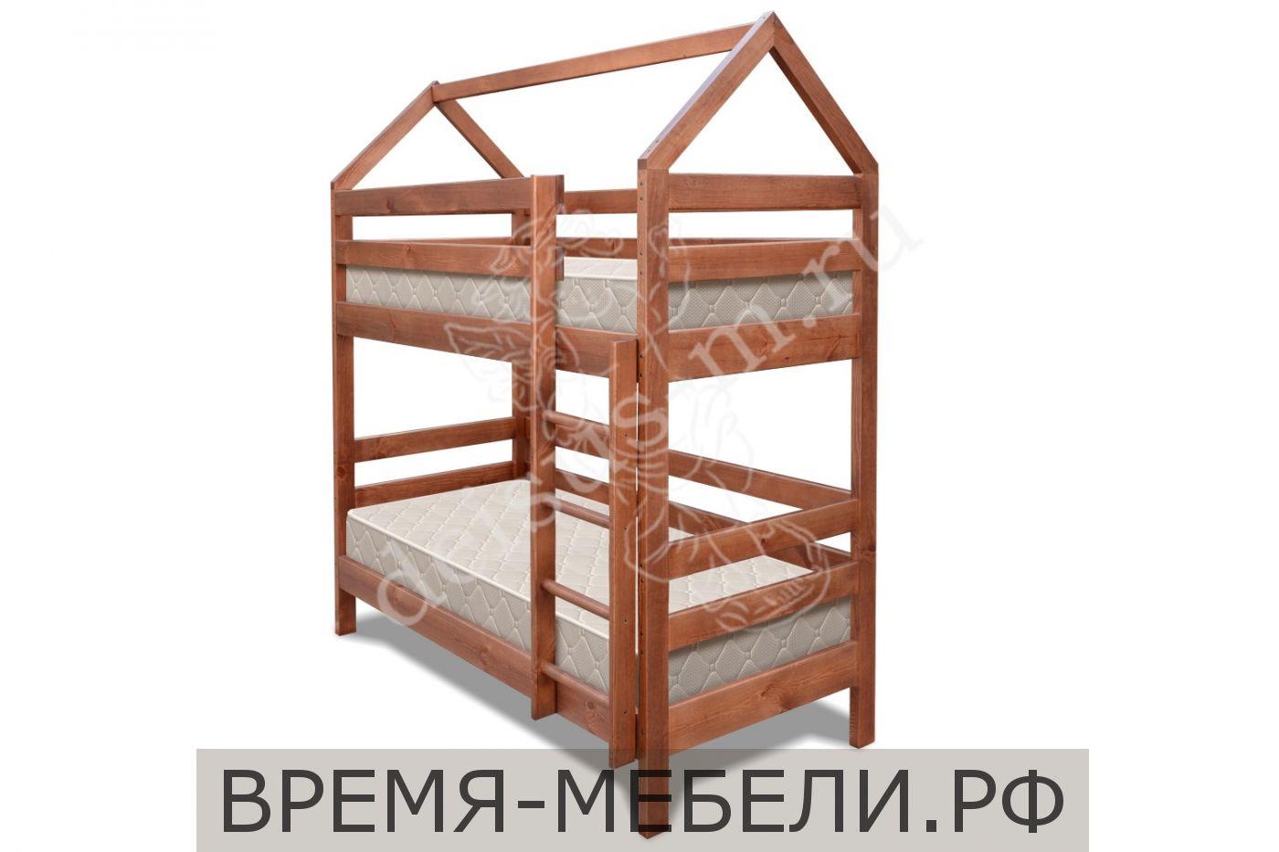 Кровать Домик-М двухъярусная