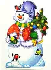 Баннер Снеговик с елочкой (41 см)
