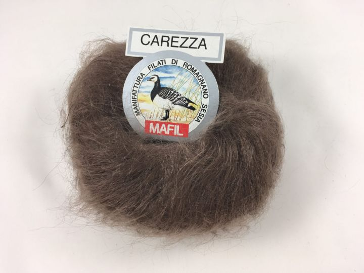 Кид мохер Mafil Carezza серо-коричневый