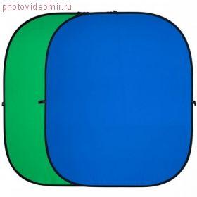 Фон складной Raylab RF-12 хромакей муслиновый Green/Blue 150*200см (зеленый/синий)