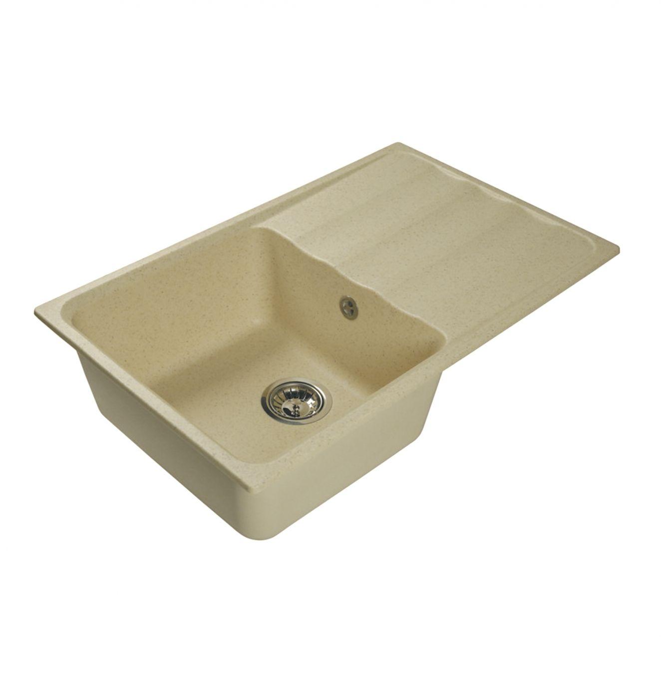 Врезная кухонная мойка LEX Lucerne 780 Ivory  78х49см искусственный мрамор RULE000112