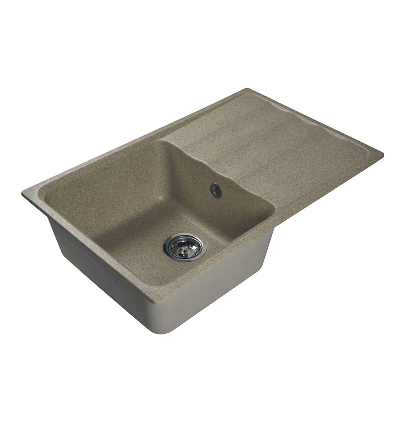 Врезная кухонная мойка LEX Lucerne 780 Sand  78х49см искусственный мрамор RULE000113