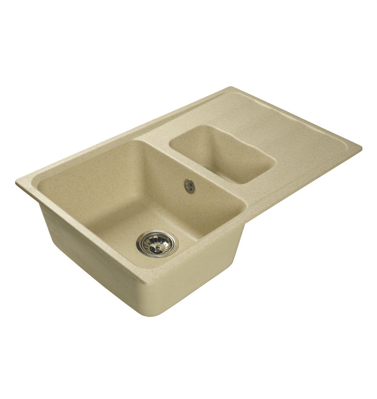 Врезная кухонная мойка LEX Maggiore 780 Ivory  78х49см искусственный мрамор RULE000118