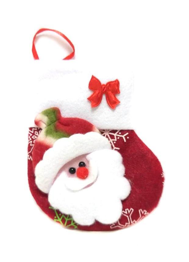 Новогодняя подвеска Носок для подарков Дед Мороз