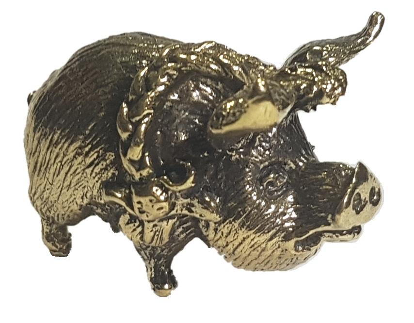 Фигурка Свиноматка бронза