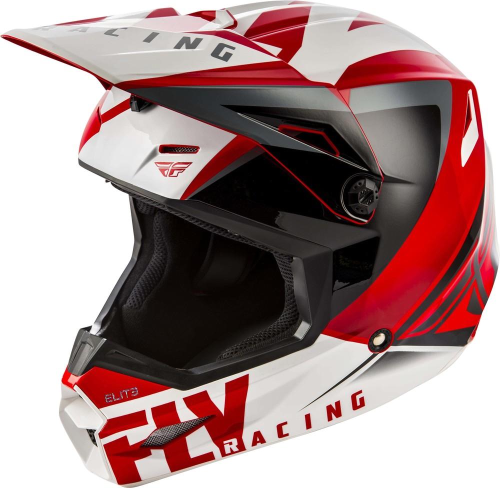 Fly - 2019 Elite Vigilant Red/Black шлем, красно-бело-черный