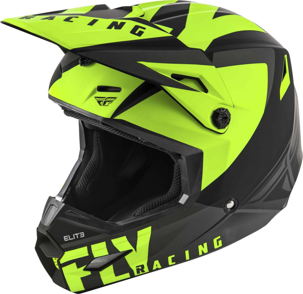 Fly - 2019 Elite Vigilant Matte Black/Hi-Vis шлем, черно-желтый