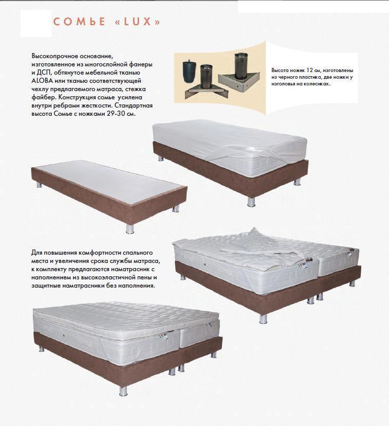 Кровать Сомье Lux (Люкс) | Lineaflex