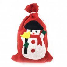 Новогодний мешок для подарков, 30х20 см, Снеговик