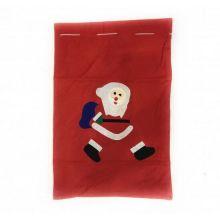 Новогодний мешок для подарков, 30х20 см, Дед мороз